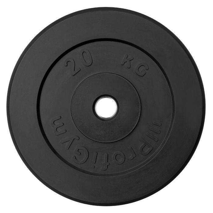 Диск «Profigym» тренировочный обрезиненный 20 кг черный 31 мм (металлическая втулка)