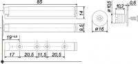 Упор-защелка фасадов с толкателем AMF11/W