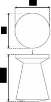 Мебельная ручка круглая RC002CP.4