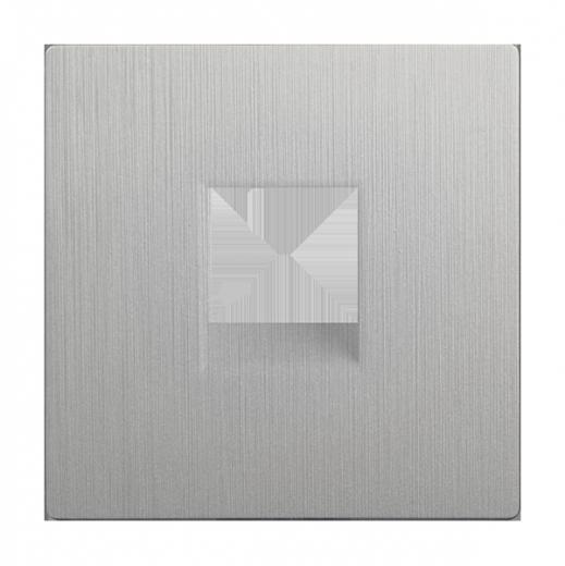 Накладкадлятелефонной розетки WL09-RJ-11-CP серебряный рифленый