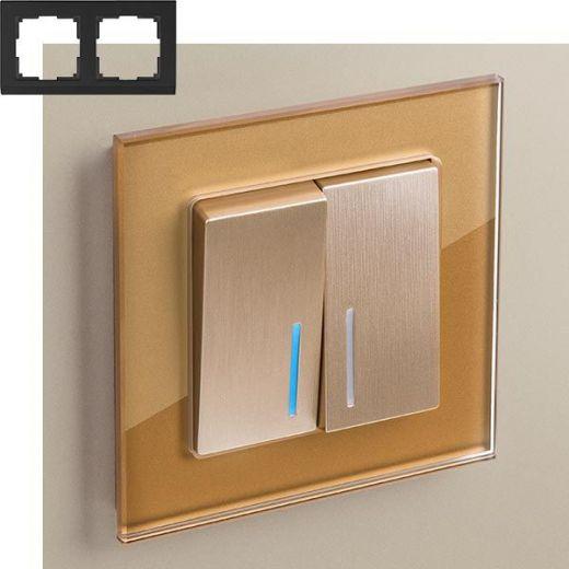 Рамка на 2 поста Werkel WL01-Frame-02 Бронза