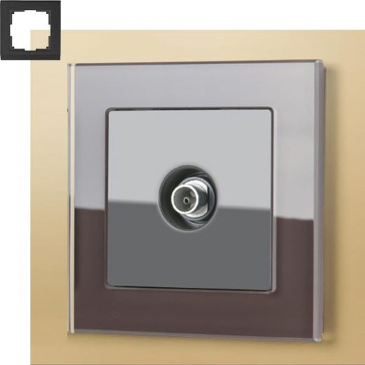 Рамка на 1 пост Werkel WL01-Frame-01 Мокко