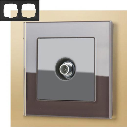 Рамка на 2 поста Werkel WL01-Frame-02 Мокко
