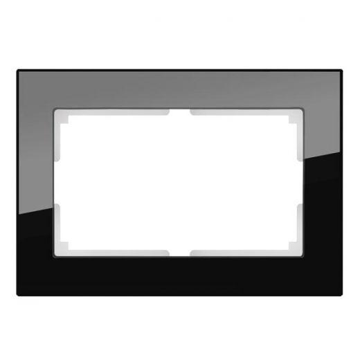 Рамка для двойной розетки Werkel WL01-Frame-01-DBL черная