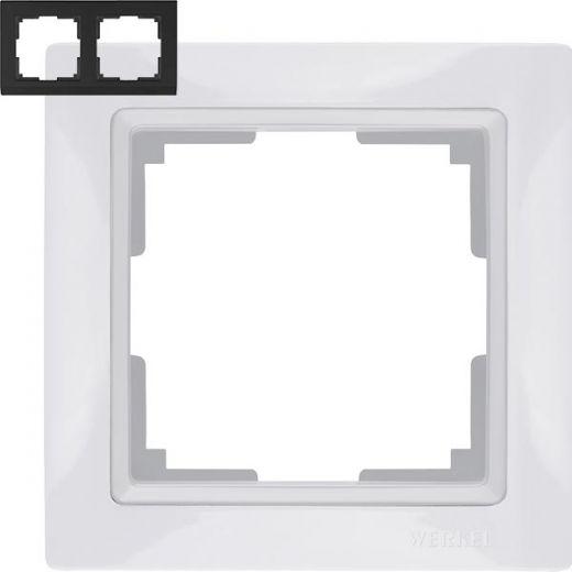 Рамка на 2 поста Werkel WL03-Frame-02 Basic Белый