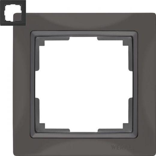 Рамка на 1 пост Werkel WL03-Frame-01 Basic серо-коричневый