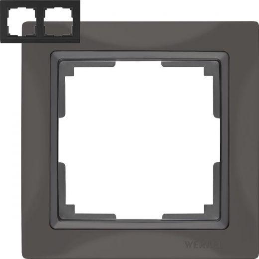 Рамка на 2 поста Werkel WL03-Frame-02 Basic серо-коричневый