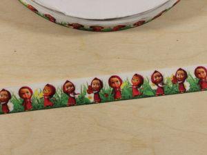 Лента репсовая с рисунком, ширина 22 мм, длина 10 м, Арт. ЛР5837