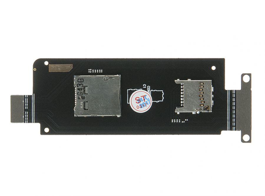 FLC (Шлейф) Asus ZX551ML ZenFone Zoom (на разъёмы sim-карт и micro SD) Оригинал