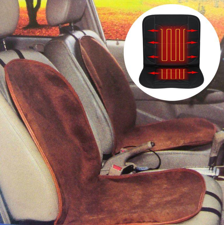 Обогревающая терморегулируемая накидка для переднего сиденья, 95х50 см