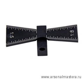Шаблон пластиковый градуированный для соединения ласточкин хвост Woodwork DS00139