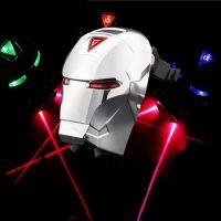 Задний велосипедный фонарь с лазерной дорожкой Железный Человек (Laser Tail Light) (2)