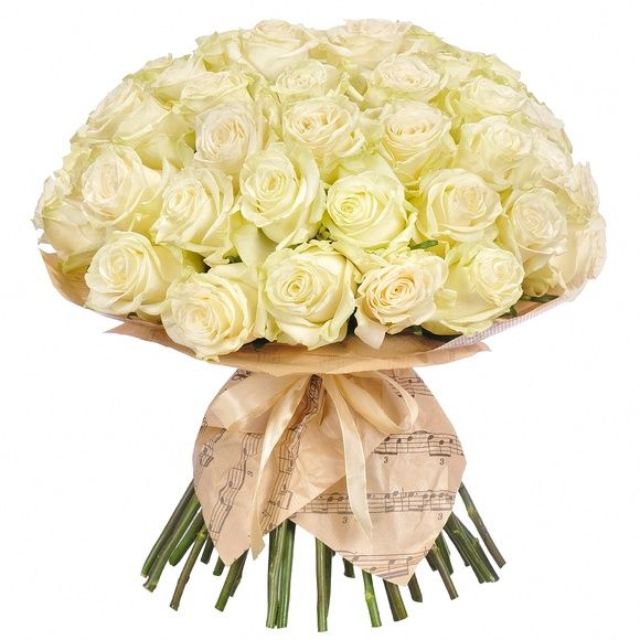 """Букет """"Симфония"""" 35 белых роз"""