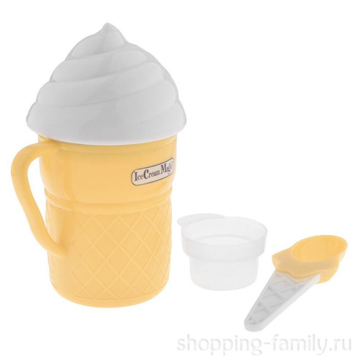 Стаканчик для приготовления мороженого Ice Cream Maker, Цвет Белый