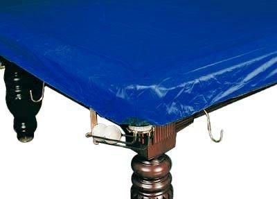Покрывало для стола 12 ф (влагостойкое, тёмно-синее, резинки на лузах), артикул 70.113.12.0