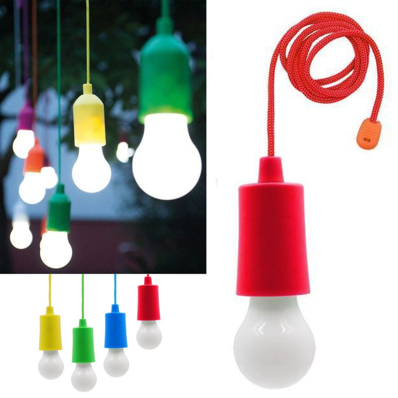 Светодиодная лампочка на шнурке Led Stretch Switch Light, цвет красный