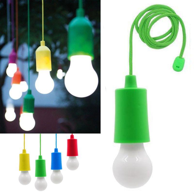 Светодиодная лампочка на шнурке Led Stretch Switch Light, цвет зеленый