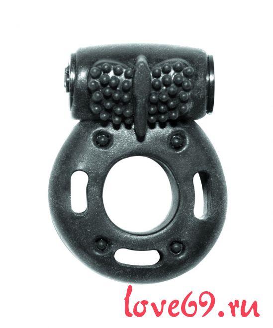 Черное эрекционное кольцо с вибрацией Rings Axle-pin