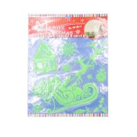 Набор светящихся новогодних наклеек Merry Christmas,  Новогодние Сани (2)