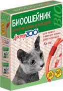 Доктор ЗОО БИО Ошейник для кошек и мелких собак (красный), 35см