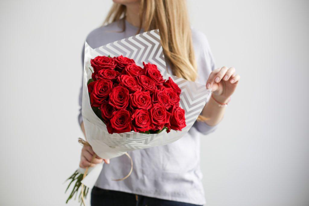 Букет из 21 красной розы  «Страсть»
