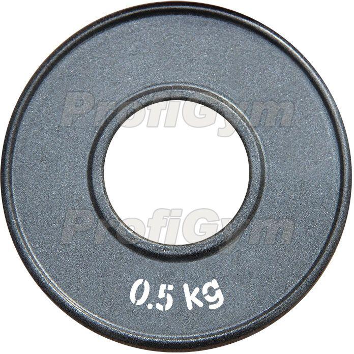 Диск стальной «Powerlifting» с полимерным покрытием, 0,5 кг