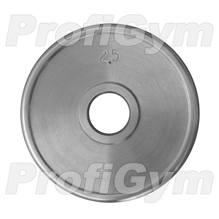 Диск хромированный «ProfiGym» 2,5 кг посадочный диаметр 31 мм