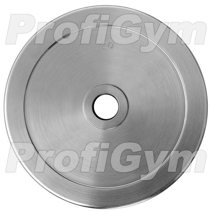 Диск хромированный «ProfiGym» 20 кг посадочный диаметр 51 мм