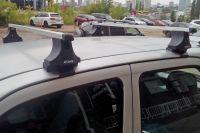 Багажник на крышу Toyota Cami (без рейлингов), Атлант, прямоугольные дуги
