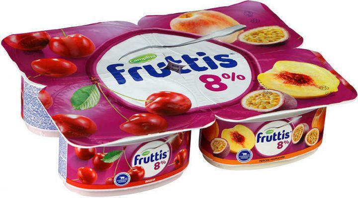 Продукт йогуртный Фруттис 8% вишня/пер/маракуйя 115г ООО Кампина