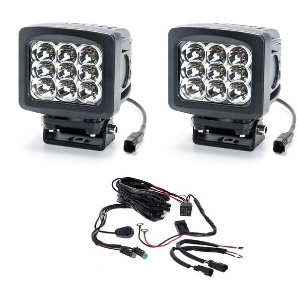 Комплект фар 180W (Дальний свет) с проводкой