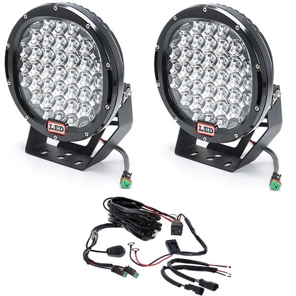 Комплект фар 370W (Дальний свет) с проводкой