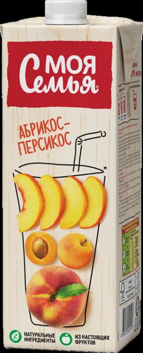 Нектар Моя Семья 0,95л Яблоко/Персик/абрикос