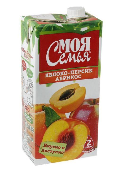 Нектар Моя Семья 1,93л яблоко/персик/абрикос