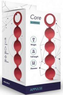 Анальные шарики Le Frivole Core Appulse красные, 15*2,5 см
