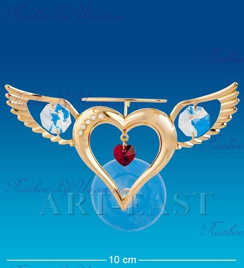 """Магнит с присоской сердце Ангела """"Swarovski"""""""