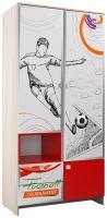 """Пенал с ящиками ПН-15 """"Футбол"""",(2110*500*520)                                  Серый/Красный/ корпус Ясень Шимо Светлый/ Красный - 7700 руб."""