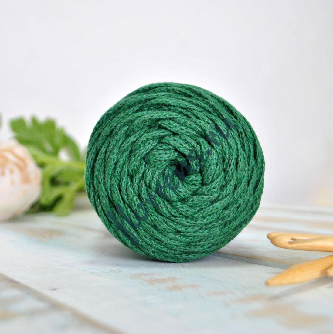 Шнур для вязания / темно-зеленый