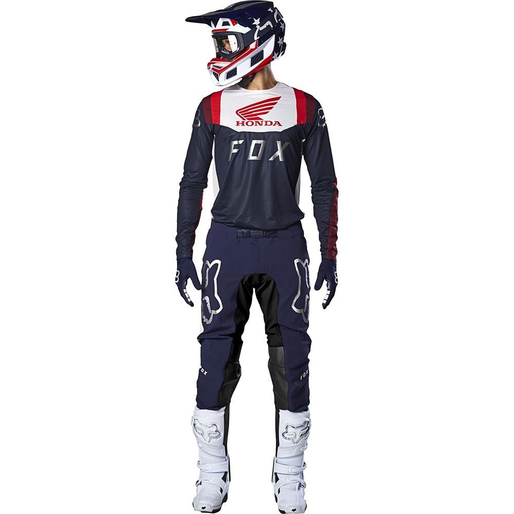 Fox - 2020 Flexair Honda Navy/Red комплект джерси и штаны, сине-красный