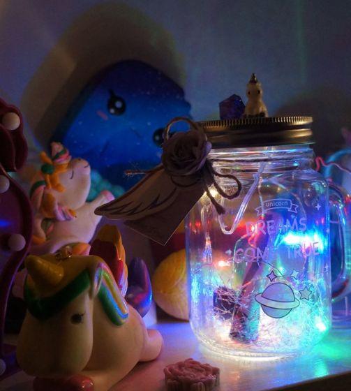 Светильник с запиской UNICORN «DREAMS COME TRUE»