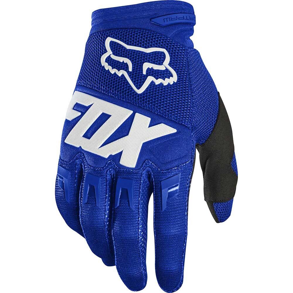 Fox - 2020 Dirtpaw Race Blue/White перчатки, сине-белые