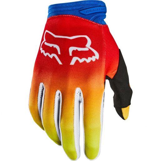 Fox Dirtpaw Fyce Blue/Red перчатки, сине-красные