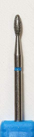 Бор алмазный пламя, фреза средняя синяя (2899)