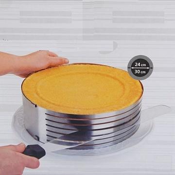 Регулируемая форма круглая с нарезкой 24-30 см, высота 8,5 см