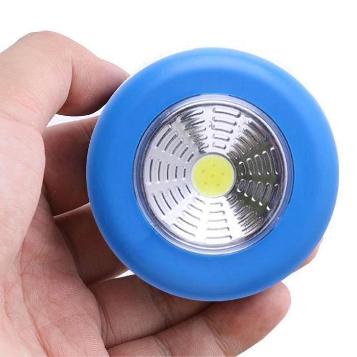Светодиодный Мини-Светильник На Липучке Stick Touch Lamp, Цвет Синий