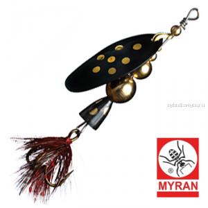Блесна вертушка Myran Mira 4гр / цвет: Svart 6471-09
