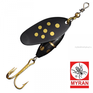 Блесна вертушка Myran Panter 3гр / цвет: Svart 6480-09