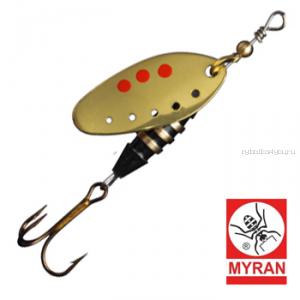 Блесна вертушка Myran Toni-Z 12гр / цвет: Guld 6422-02