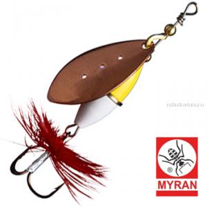 Блесна вертушка Myran Wipp Guld Vit 3гр / цвет: Koppar 6440-38