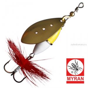 Блесна вертушка Myran Wipp Guld Vit 7гр / цвет: Guld 6442-28